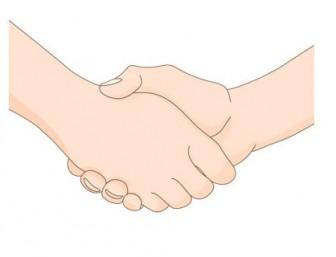握手_手・指イラスト