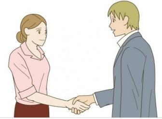 握手するイラスト - 無料イラストのIMT 商用OK、加工OK
