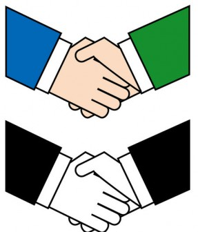 オフィス18-握手 -仕事の無料イラスト素材-イラストポップ