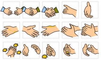 拍手/握手などのイラスト(パワポ2010) パワーポイント、ビジネスフリー素材 Digipot
