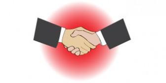 無料 WEB素材 イラスト ビジネス/握手1
