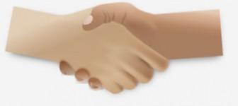 握手している手のイラスト   無料イラスト作成ソフトInkscape(インクスケープ)の作品集