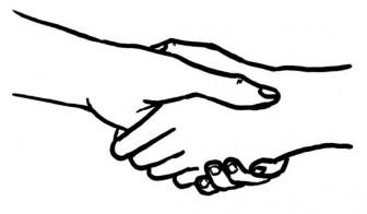 [フリー素材] 握手のイラスト (cc-library010001398)   CCライブラリー 【フリー素材集】