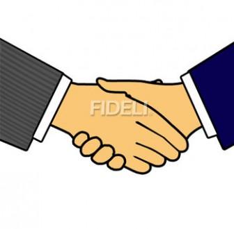 握手のイラスト01のダウンロード|フィデリ・ビジネス文書集