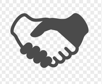 握手のイラスト   アイコン素材ダウンロードサイト「icooon-mono」