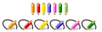 学校の無料イラスト(文房具)②|フリー素材|素材のプチッチ