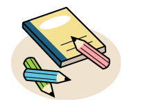 げんき-NETひたちなかフリーイラスト集-ノートと鉛筆