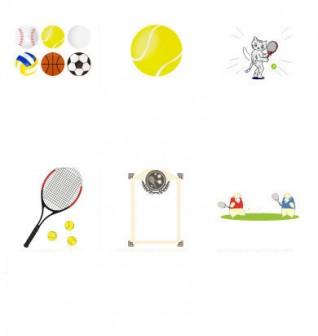 イラスト無料 「テニス」のイラスト素材