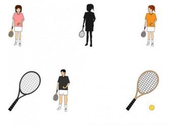 テニスの無料イラスト