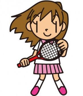 フリーイラスト集・素材集【テニス イラスト】