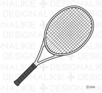 テニスラケットの無料イラスト素材|イラストイメージ (ii)