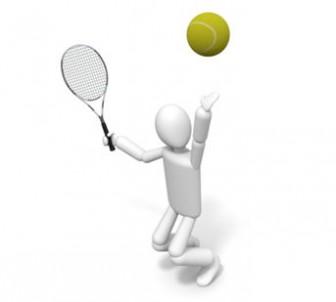 テニス - フリー素材 - イラスト