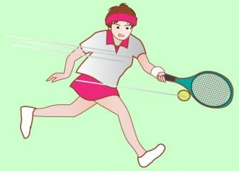 スポーツ|無料イラスト|ダウンロード|PNG/テニス1