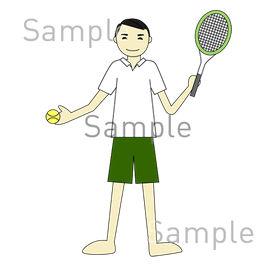 テニスの無料イラスト素材|登録不要のイラストぱーく