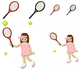 フリー素材集 ミスティーネット イラスト■スポーツ系 ・テニス