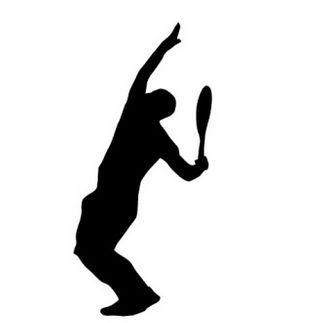 サーブを打つテニスプレーヤーの影絵イラスト | 【無料配布】イラストレーター/ベクトル パスデータ保管庫【イラレ・ai・eps 商用可能素材】