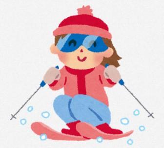 スキーのイラスト「女の子」 | 無料イラスト かわいいフリー素材集 いらすとや