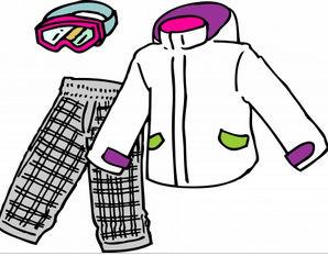スキーウェアのイラスト - 無料イラストのIMT 商用OK、加工OK