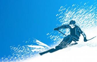 [フリー素材] スキーのイラスト (cc-library010002571) | CCライブラリー 【フリー素材集】