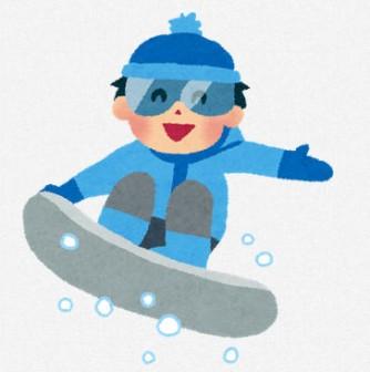 スノーボードのイラスト「男の子」 | 無料イラスト かわいいフリー素材集 いらすとや