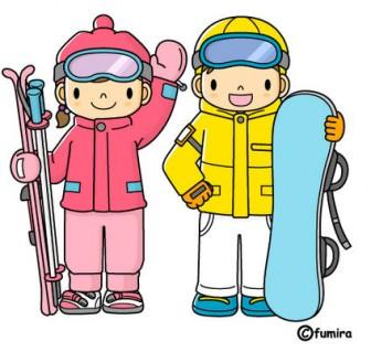 スキー・スノーボードのイラスト(カラー)