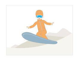 スノーボード|冬 フリー イラスト 素材