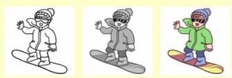 スポーツ(スノーボード、スキー)/無料イラスト/冬の行事・季節のイラスト素材