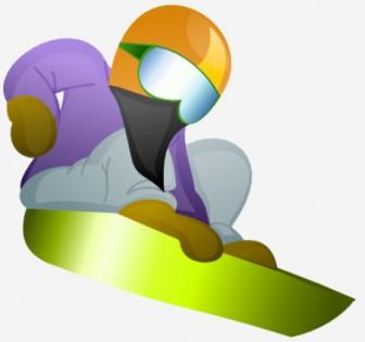 スノーボードのイラスト | 無料イラスト作成ソフトInkscape(インクスケープ)の作品集