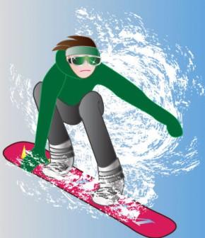 冬スポーツ|無料イラスト|ダウンロード|PNG/スノボ2