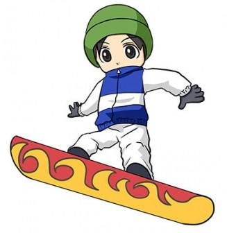 スノーボードをする男性_無料イラスト -素材Good