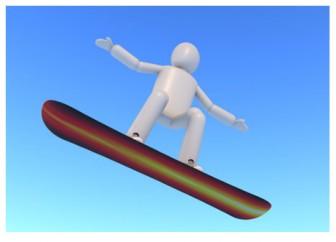 スノーボード - 無料素材 - イラスト