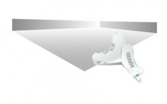 アイススケートとリンクのイラスト素材 | イラスト無料・かわいいテンプレート