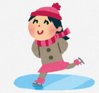 スケートのイラスト「女の子」 | 無料イラスト かわいいフリー素材集 いらすとや