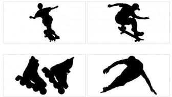 スポーツ−スケート【シルエット素材】 MMGクリエイティブネット