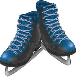 アイススケート靴のイラスト・条件付フリー素材集