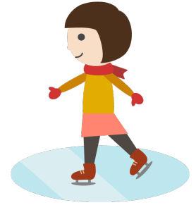 スケートのシンプルイラスト <無料> | イラストK