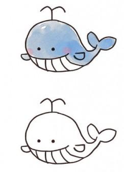 クジラのイラスト: ゆるかわいい無料イラスト素材集