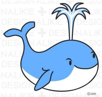 クジラの無料イラスト素材 イラストイメージ (ii)