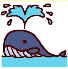 クジラ・鯨(カラー)/海の動物・生き物の無料イラスト/ミニカット・クリップアート素材