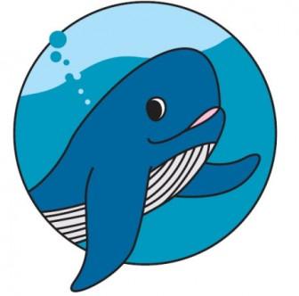 クジラ【イラストの無料素材】ダイビング・海・魚などのフリー素材集