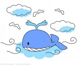 泳ぐクジラのイラスト素材   無料イラスト素材 素材ラボ