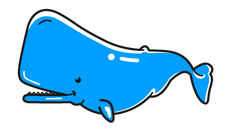 マッコウクジラ01のイラスト かわいいフリー素材、無料イラスト 素材のプチッチ