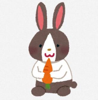 ウサギのイラスト「白黒うさぎ」(動物) | 無料イラスト かわいいフリー素材集 いらすとや