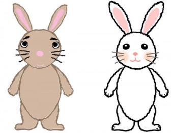 うさぎ ウサギ 動物のイラスト素材 無料テンプレート