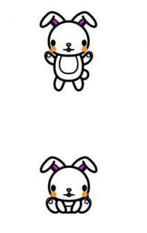 かわいいうさぎの無料イラスト・商用フリー | オイデ43
