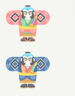 凧 : フリー素材集【無料イラスト】エチュード・キャンパス