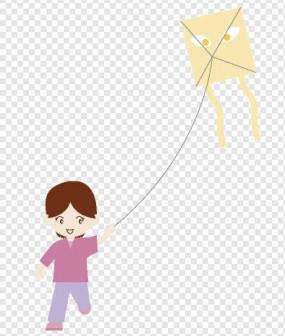 凧あげ/女の子|illustration