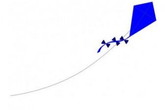 青い凧クリップアート ベクター クリップ アート - 無料ベクター | 無料素材イラスト・ベクターのフリーデザイナー