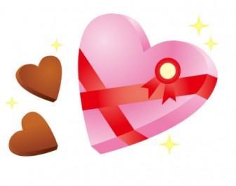 ハート型チョコレートのバレンタインイラスト素材 | イラスト無料・かわいいテンプレート