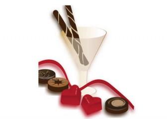 バレンタイン・ハートとチョコレートのイラスト素材
